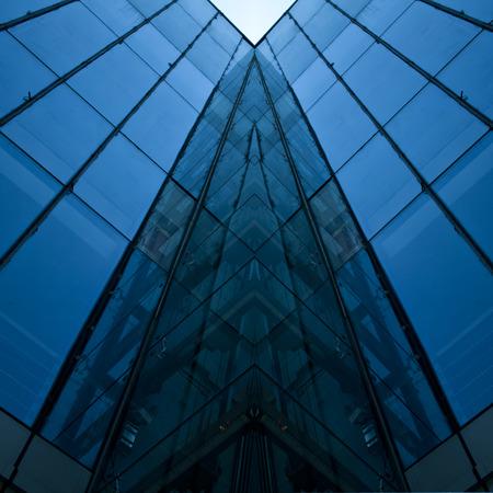 public building: Modern building glass wall
