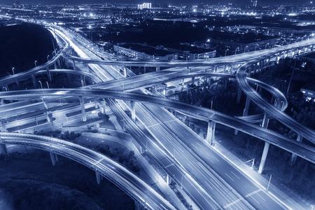 overpass: China Jiangsu night overpass Stock Photo