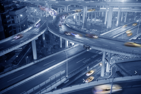 intersect: City overpass of Shanghai Stock Photo
