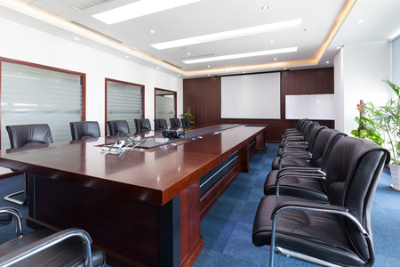 conference room meeting: Empty conference room