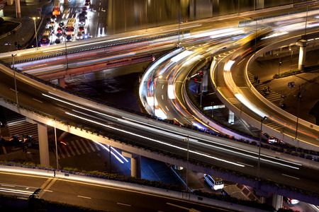 elevated: Night, the elevated road traffic