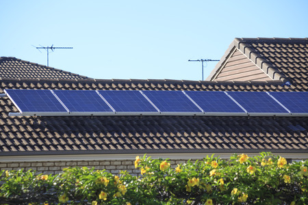 Rooftop solar panels 写真素材