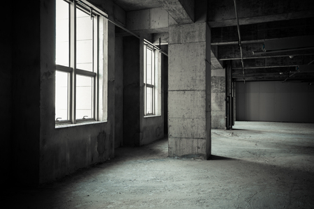 contemporary interior: Empty buildings
