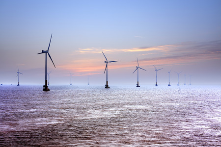 wind power: Offshore wind Stock Photo