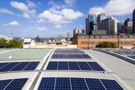 Rooftop solar panels Standard-Bild