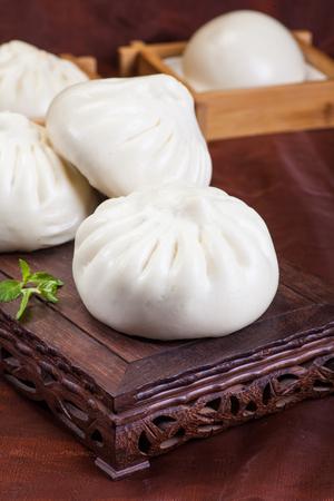 bollos: La comida china, bollos al vapor Foto de archivo