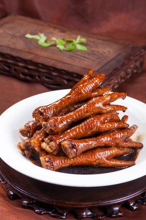 alimentos, las patas de pollo chinos Foto de archivo