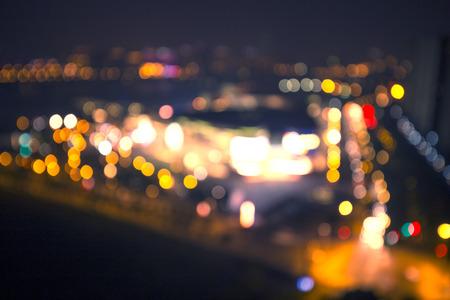 fuzzy: Fuzzy urban architectural lighting Stock Photo