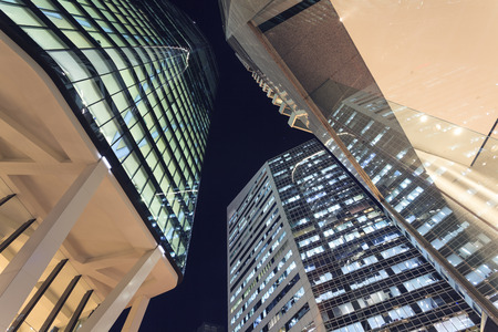 Brisbane city buildings at night