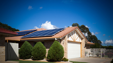 Solar panels on the roof, Australia Editorial