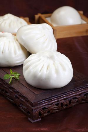buns: La comida china, bollos al vapor Foto de archivo
