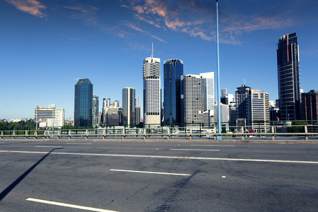 qld: Brisbane city and road Stock Photo