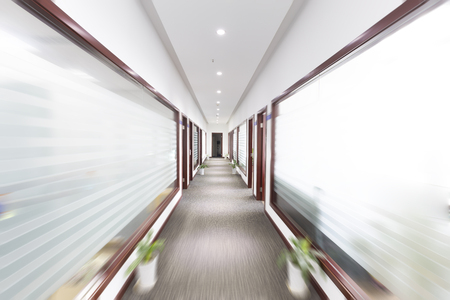 aisles: Fuzzy office corridor