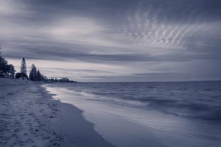 In the evening, the coast of Queensland in Brisbane