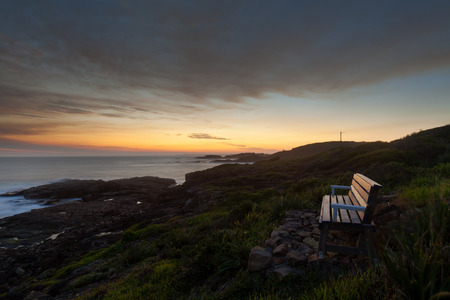 Australian Anna bay, evening coastline Stock Photo