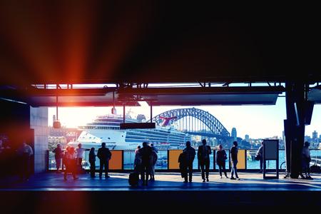Sydney City subway platform Editorial