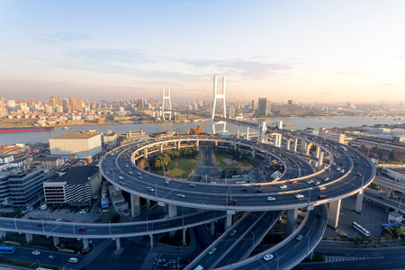Shanghai Chinas cross-river bridge Stock Photo