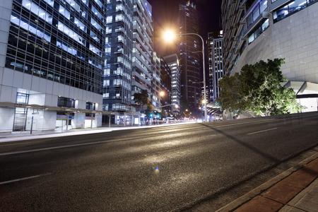 dark city: Brisbane city traffic at night