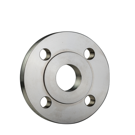 Isolated on a white background metal flange ring