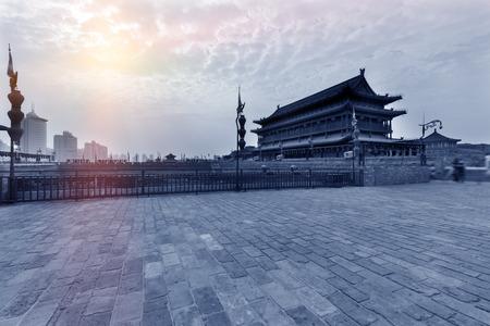 Chinas famous tourist city of Xian wall