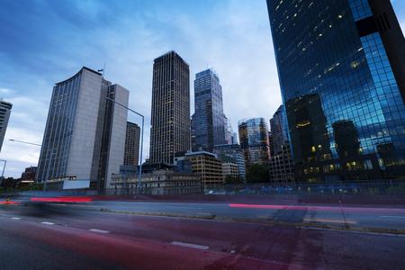Sydney city building, busy city road 写真素材