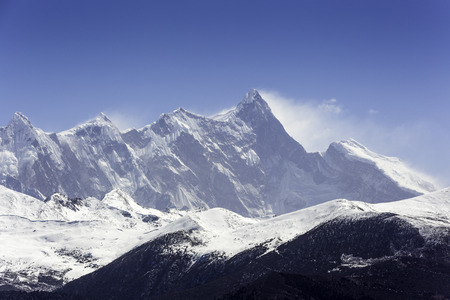 China Tibet, the mountains of the mountains of Nanjaba Stock Photo