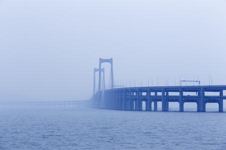 Chinas Dalian, Xinghai Bridges magnificent appearance 版權商用圖片
