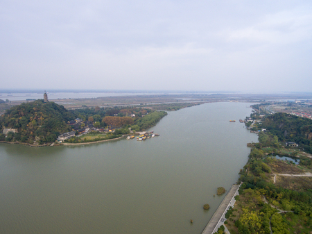 A bird s eye view of China s Zhenjiang and Buddhist temples