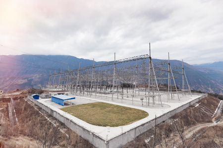 China s power substation in Tibet