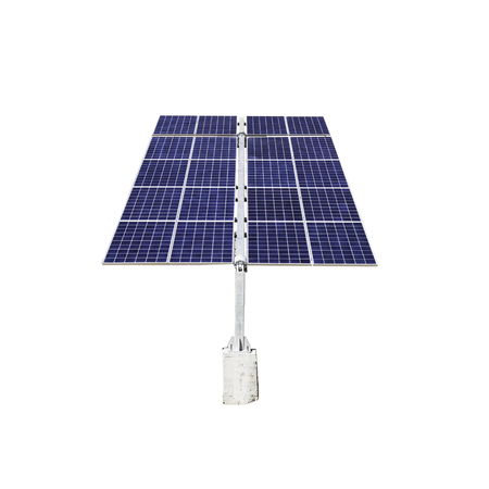 Isolated solar panels on a white background