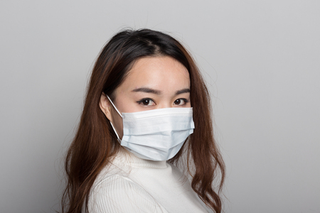 Chinese women with masks