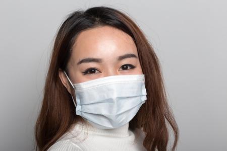 Donne cinesi con maschere Archivio Fotografico - 93057239