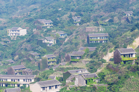 Chinas Shengsi Islands, abandoned old town house