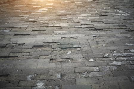 Sfondo del pavimento in mattoni Archivio Fotografico - 103906284