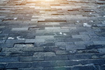 Sfondo del pavimento in mattoni Archivio Fotografico - 103906286
