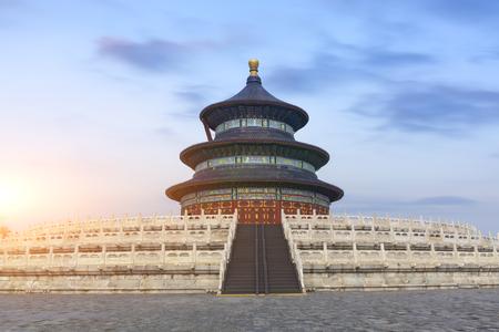 Pechino Cina, l'antico edificio del Tempio del Cielo Archivio Fotografico - 103975307