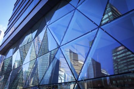 Quartiere degli affari urbani dell'esterno dell'edificio in Cina Shanghai. Archivio Fotografico - 104476180