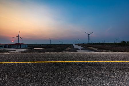 Jiangsu coastal wind-power cluster Archivio Fotografico - 104653142