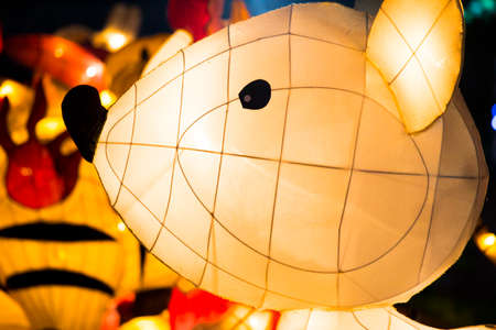 Chinese traditional festivals, New Year, Lantern Festival, Zhongyuan Purdue, will hold gorgeous and colorful lantern festivals Stock Photo
