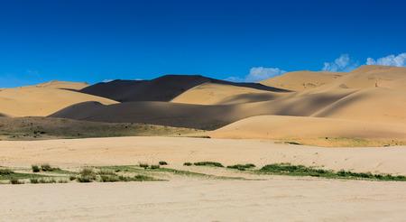 desert footprint: Desert landscape view Stock Photo