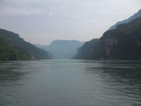 xiling gorge: China Yangtze River Three Gorges river gorge Xiling Gorge Stock Photo