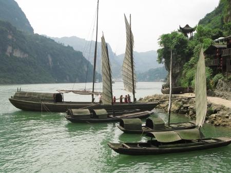 xiling gorge: Xiling Gorge Three Gorges Yangtze River Three Gorges Sailing Stock Photo