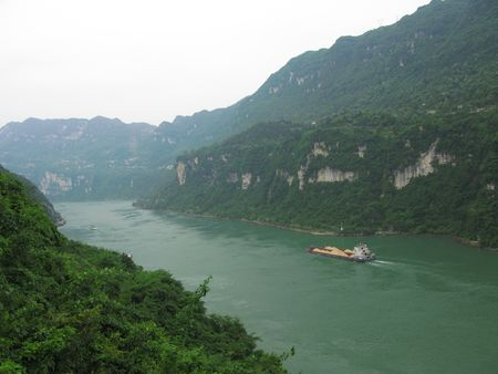 gorges: China Yangtze River Three Gorges Xiling Gorge scenery