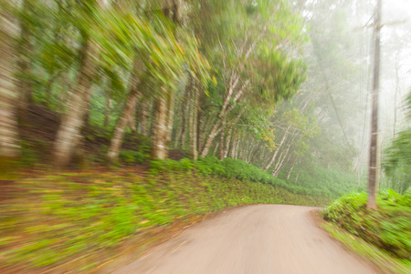 Motion blur in the road