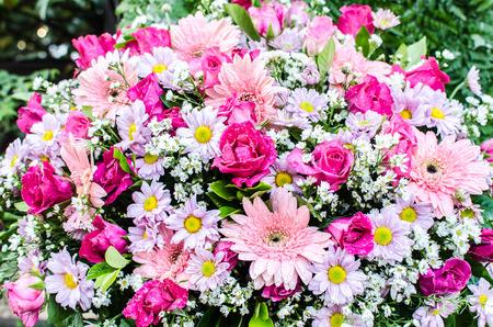 Beautiful bouquet of flowers for wedding ceremony Standard-Bild