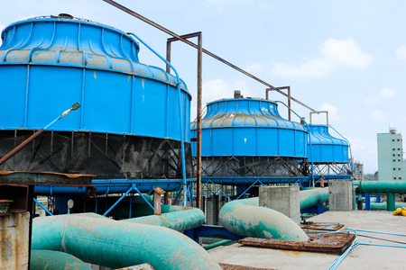 cooling: Cooling towers Stock Photo