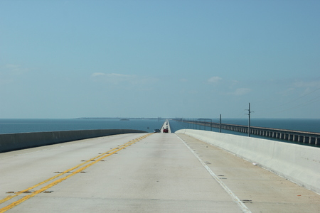 blue sky and high way in the sea