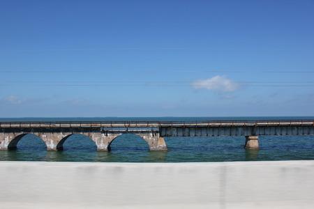 海の鉄道橋 写真素材