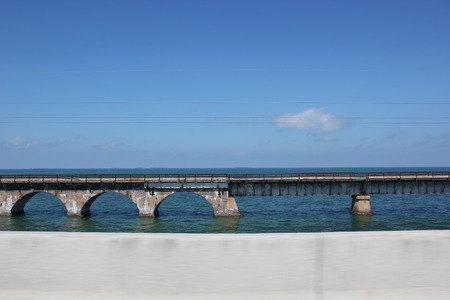 railway bridge in the sea 版權商用圖片