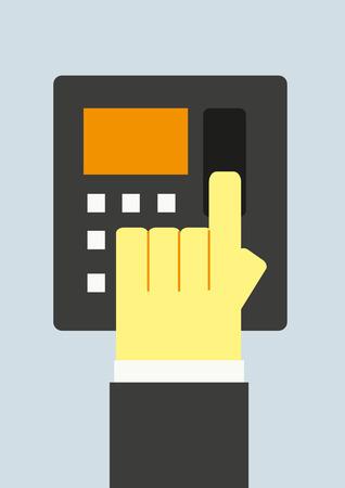 scanner: finger scanner Illustration